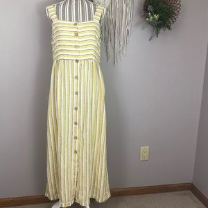 NWT Rachel Zoe size 6 100% linen yellow dress